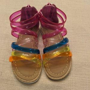 Jelly strap gladiators sandals